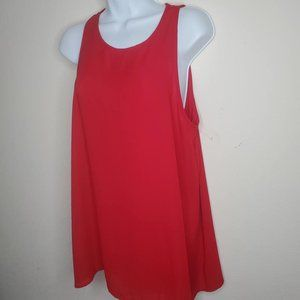 Lyss Loo Red Camisole Tunic Top Sz Large